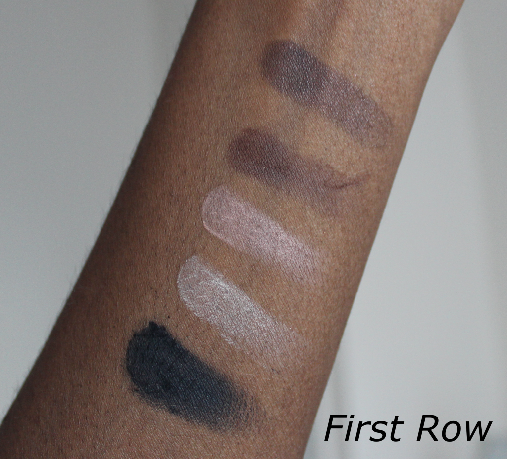 too faced semi-sweet chocolate bar palette swatches dark skin